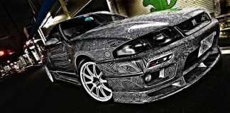 Nissan-Skyline-GTR-Sharpie-Art-1