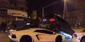 Lamborghini Aventador въехала в Mercedes GLK