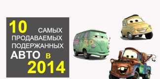 ТОП-10 б/у автомобилей в Украине в 2014 г.