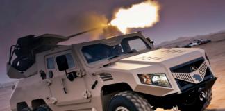 Арабский бронеавтомобиль NIMR с крупнокалиберной пушкой