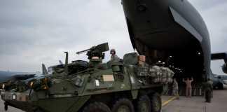 БТР Stryker прибыли в Эстонию