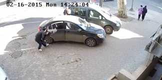 Ограбление автомобиля в Одессе