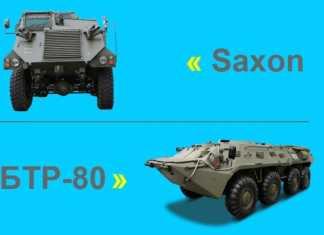 Saxon VS БТР-80