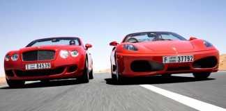 Продажи Ferrari и Bentley в Украине