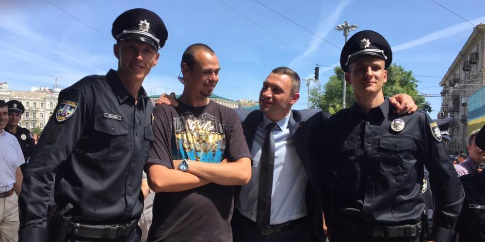 Виталий Кличко с патрульной полицией Киева