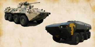 БТР-82 против БТР «Варан»
