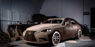 Lexus IS из картона