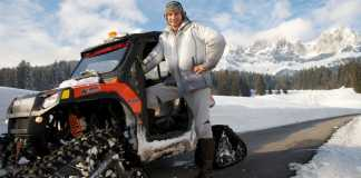 Виталий Кличко на снегоходе