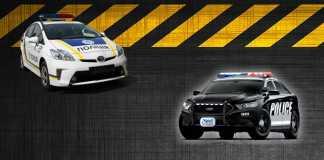 Toyota Prius - Ford Police Interceptor