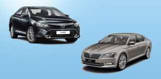 Сравнить Тойота Камри и Шкода Суперб