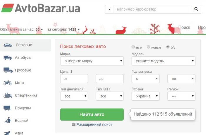 Авторынок Украины - Автобазар