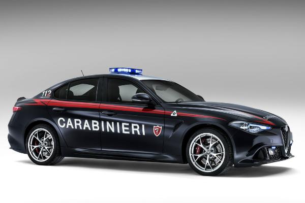 Alfa Romeo Giulia Quadrifoglio Verde, вид сбоку