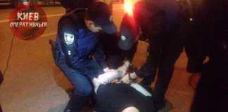 Задержание пьяного водителя в Киеве