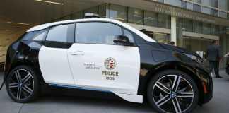 Электромобиль BMW i3, полиция Лос-Анджелеса