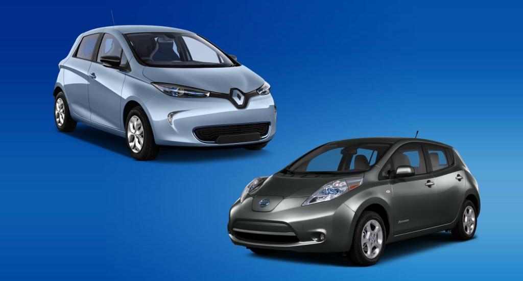Renault Zoe против Nissan Leaf