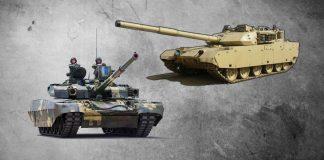 Танки БМ «Оплот» (Украина) и VT-4 (Китай)