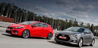 Kia Cee'd GT и Hyundai Veloster
