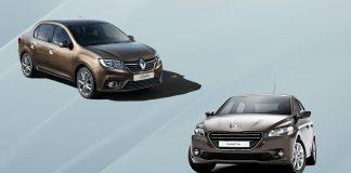 Renault Logan и Peugeot 301