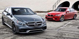 Mercedes E63 AMG S и BMW M5