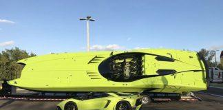 Lamborghini Aventador SV в комплекте с катером