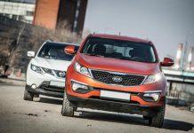 Kia Sportage и Nissan Qashqai