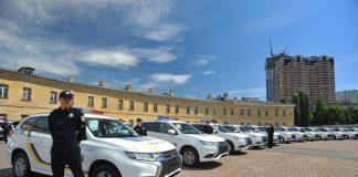 Патрульные автомобили полиции Украины Mitsubishi Outlander PHEV