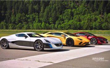 Rimac Concept_One vs Lamborghini Aventador S vs Honda NSX